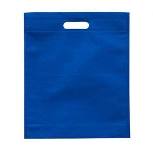 Saco TNT Azul Asa Vazada 33x38*7.5 Cm