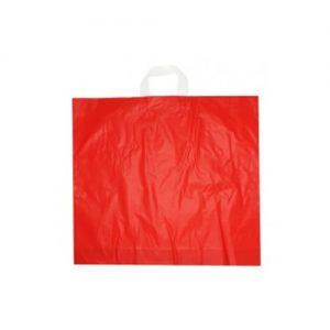 Sacos Plástico Asa Flexível Vermelho